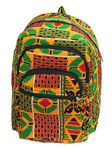 Green Kente Backpack Exotic Afrique